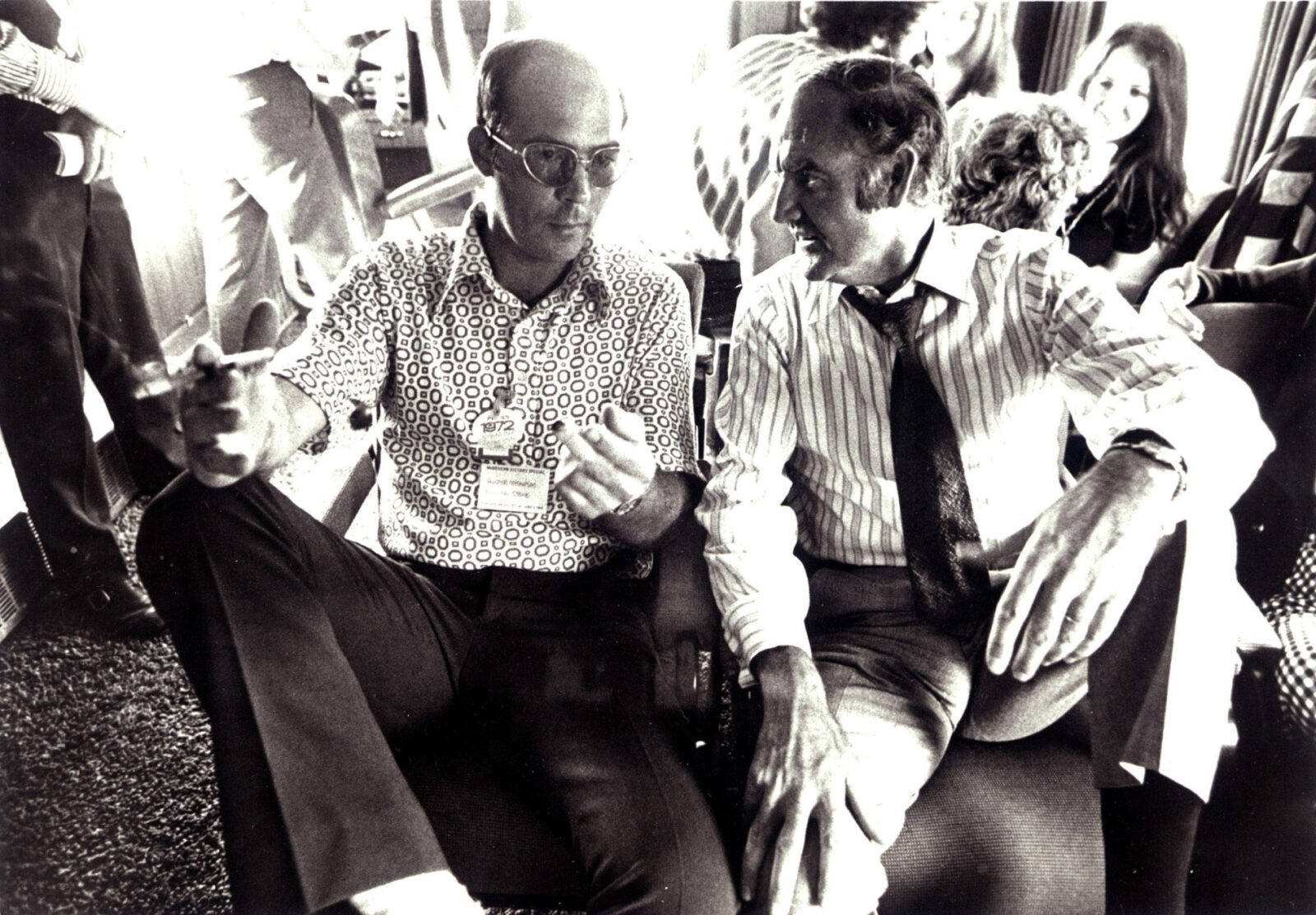 Hunter S. Thompson and counter-culture power (and eventual Dem nom) George McGovern during the 1972 Presidential Campaign.
