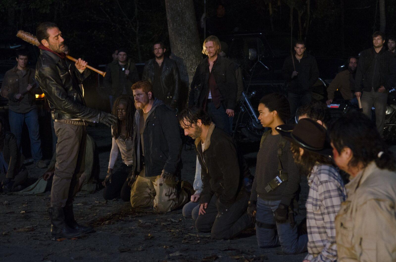 The Walking Dead finale cliffhanger.